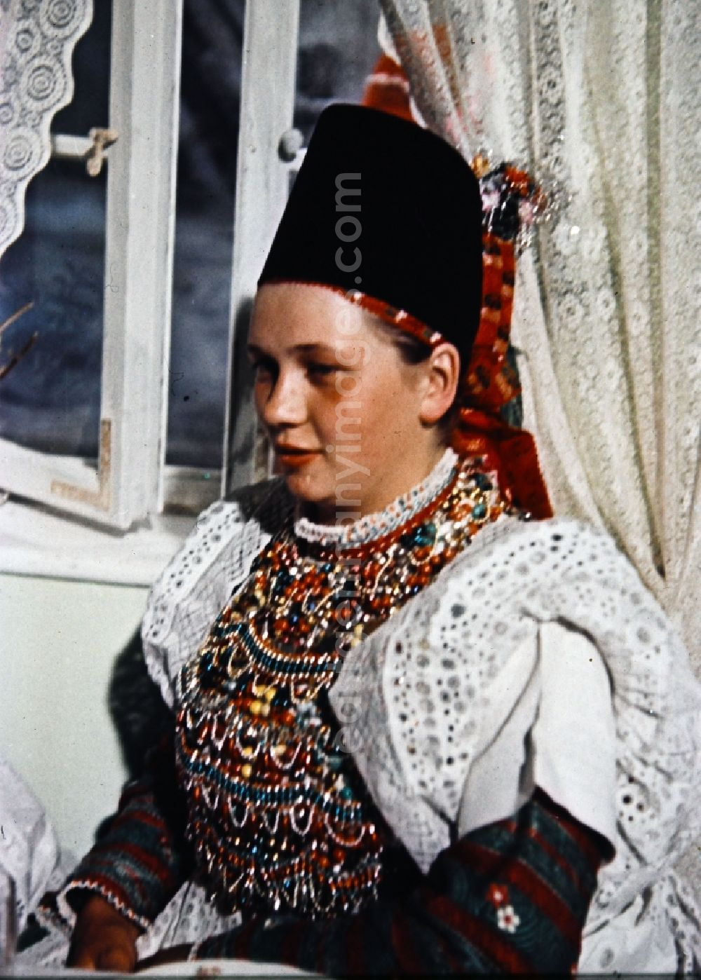 Radibor: Costumes and garments the Sorbian minority in Milkel in the state Saxony on the territory of the former GDR, German Democratic Republic