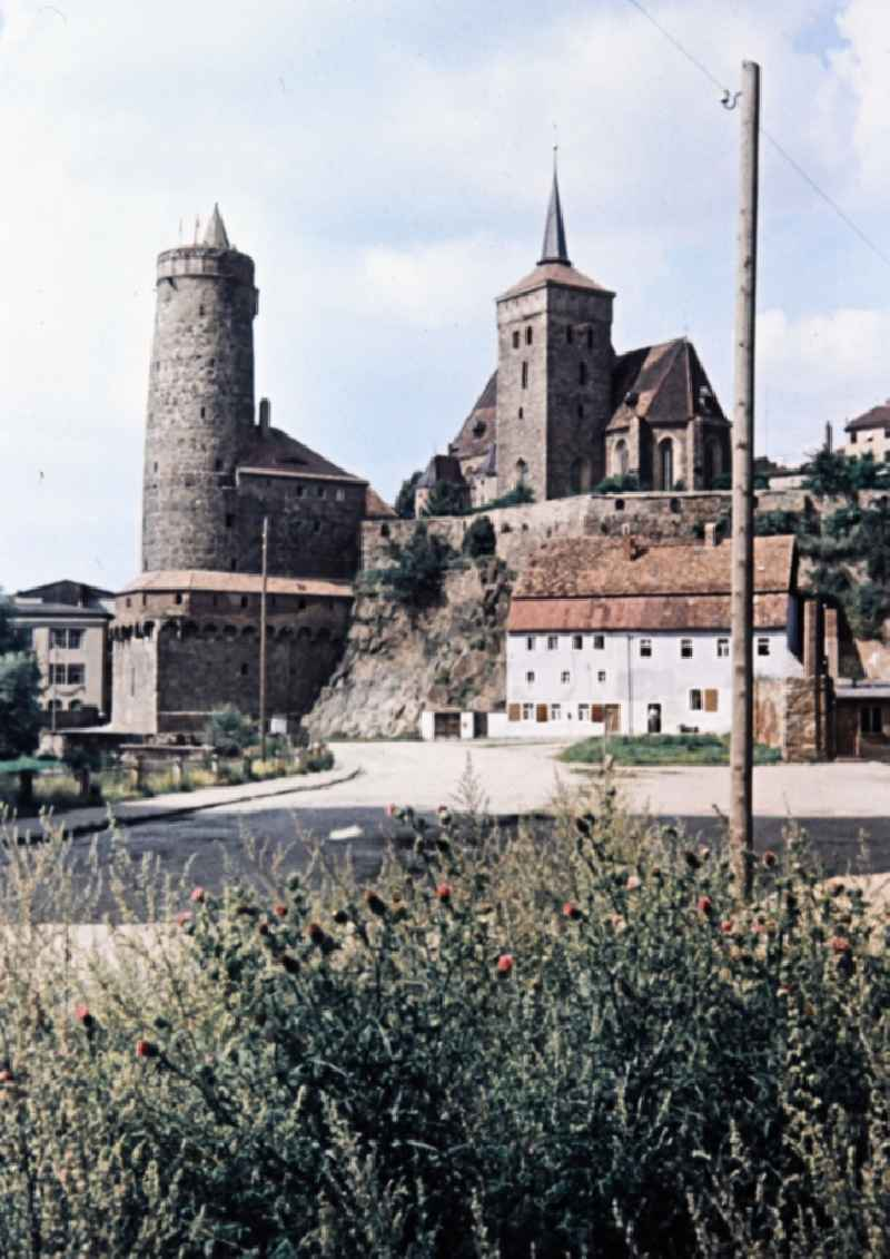 Attractions of the historic old town in the center in Bautzen in the state Saxony on the territory of the former GDR, German Democratic Republic