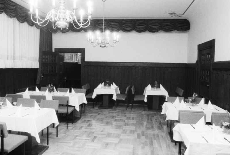 The chimney room in the rathskeller Koepenick - restaurant, jazz cellar, theatre with regional and modern German kitchen in Berlin, the former capital of the GDR, German democratic republic