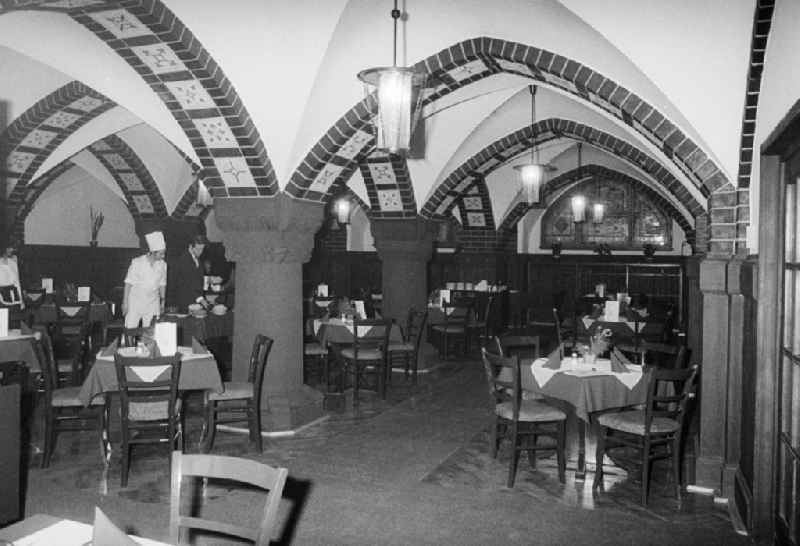 Look in the rathskeller Koepenick - restaurant, jazz cellar, theatre with regional and modern German kitchen in Berlin, the former capital of the GDR, German democratic republic