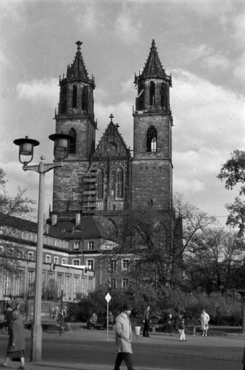 The Magdeburg Cathedral (official name Dom zu Magdeburg St. Mauritius und Katharina) is the episcopal church of the Evangelical Church in Central Germany and the Protestant parish church at the same time the symbol of the city
