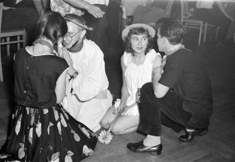 The Director Juergen Buechmann at a carnival event in the film school in the district Babelsberg in Potsdam in the state Brandenburg on the territory of the former GDR, German Democratic Republic