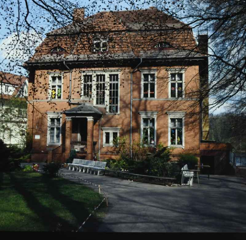 Facade of the villa an der Karl-Marx-Allee in the district Babelsberg in Potsdam in the state Brandenburg on the territory of the former GDR, German Democratic Republic