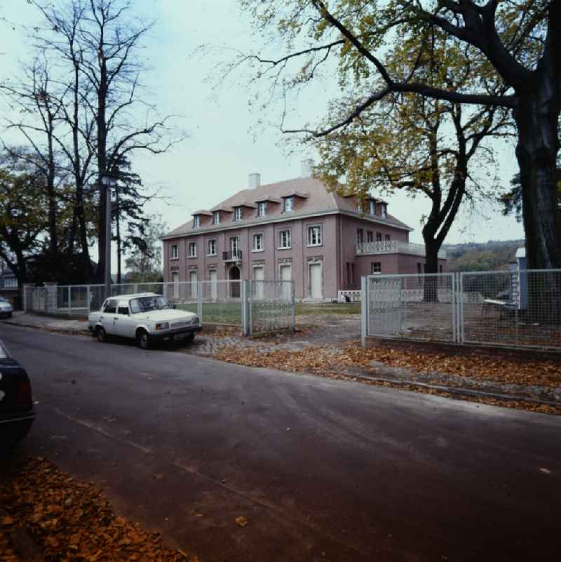 Facade of the villa an der Virchowstrasse in the district Babelsberg in Potsdam in the state Brandenburg on the territory of the former GDR, German Democratic Republic